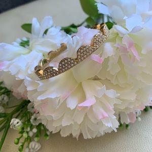 kate spade gold scallop bracelet